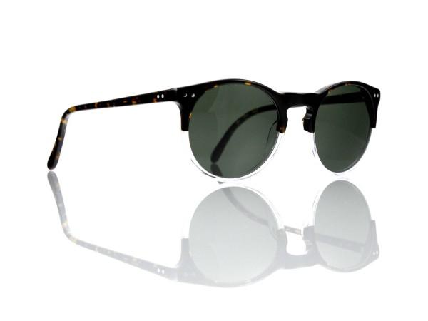 """Lesca Lunetier Mod. P 9 Sonne Col. 11 Größe 50-22 - 145 mm Kunststoff """"Ray Ban"""" G 15 graugrün 85%"""