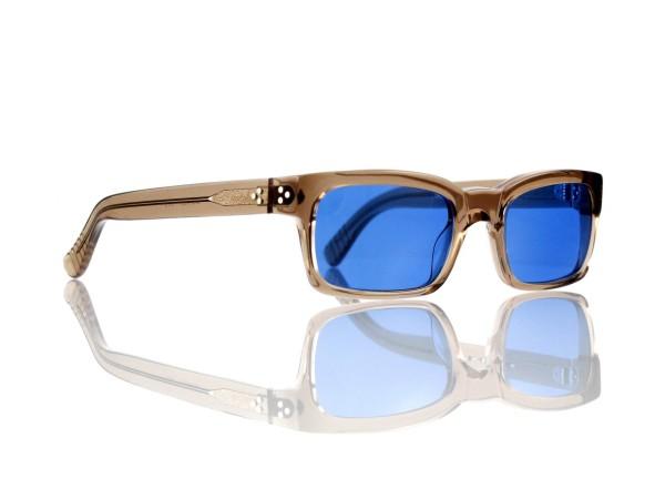 Lesca Lunetier Mod. Bauhaus Sonne Col. 8 Größe 51-19 - 145mm Kunststoff blau 70%