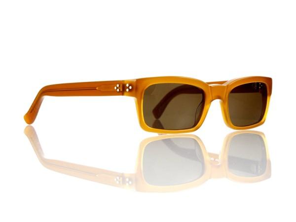 Lesca Lunetier Mod. Bauhaus Sonne Col. 6 Größe 51-19 - 145mm Kunststoff braun 85%