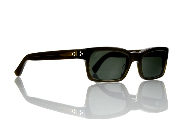 "Lesca Lunetier Mod. Bauhaus Sonne Col. 7 Größe 51-19 - 145mm Kunststoff ""Ray Ban"" G 15 graugrün 85%"