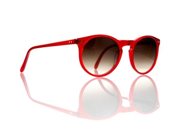 Lesca Lunetier Mod. P 9 Sonne Col. rot Größe 50-22 - 145 mm Kunststoff braun verlauf