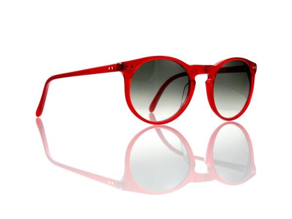 Lesca Lunetier Mod. P 9 Sonne Col. rot Größe 50-22 - 145 mm Kunststoff graugrün verlauf