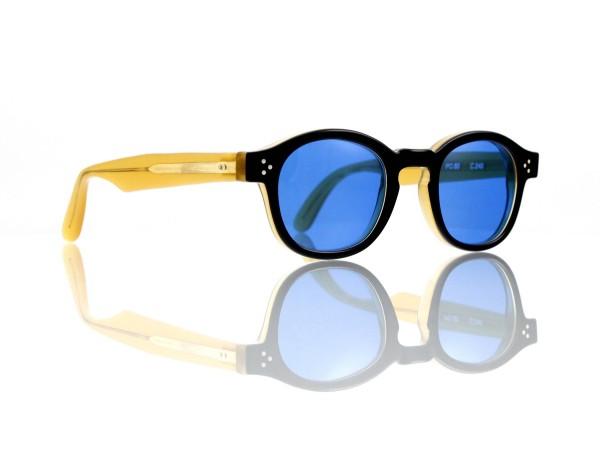 Lesca Lunetier Mod. P.080 Sonne Col. C.240 Größe 44-22 - 145mm Kunststoff blau 70%