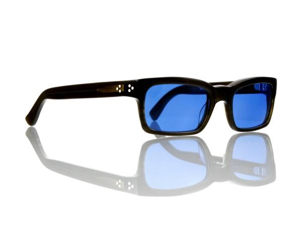 Lesca Lunetier Mod. Bauhaus Sonne Col. 7 Größe 51-19 - 145mm Kunststoff blau 70%