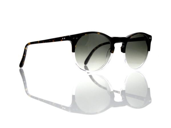 Lesca Lunetier Mod. P 9 Sonne Col. 11 Größe 50-22 - 145 mm Kunststoff graugrün verlauf