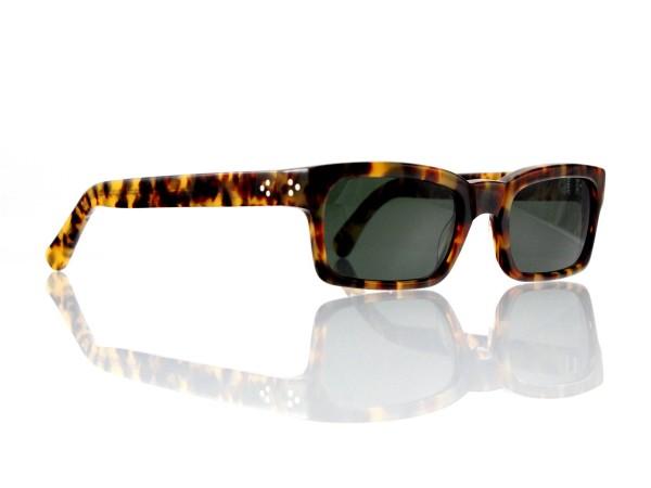 "Lesca Lunetier Mod. Bauhaus Sonne Col. 4 Größe 51-19 - 145 mm Kunststoff ""Ray Ban"" G 15 graugrün 85%"