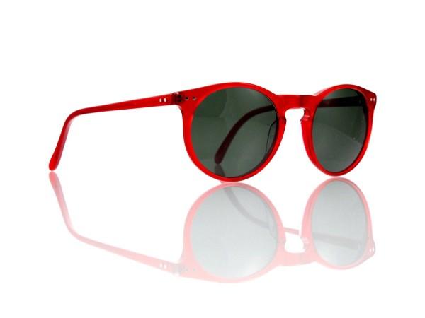 """Lesca Lunetier Mod. P 9 Sonne Col. rot Größe 50-22 - 145 mm Kunststoff """"Ray Ban"""" G 15 graugrün 85%"""