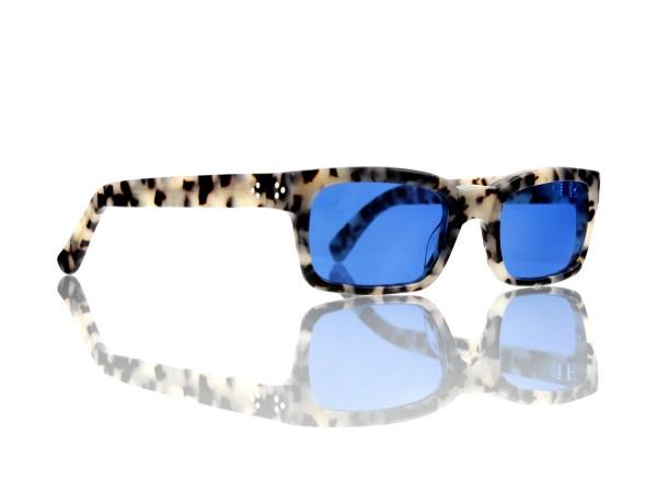 Lesca Lunetier Mod. Bauhaus Sonne Col. 5 Größe 51-19 - 145mm Kunststoff blau 70%