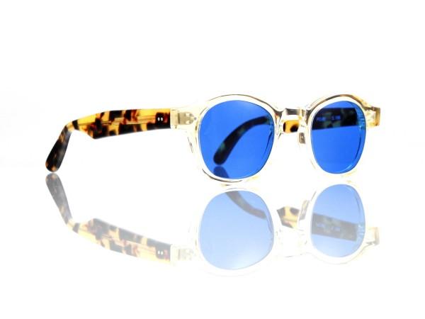 Lesca Lunetier Mod. P.080 Sonne Col. S186 Größe 44-22 - 145mm Kunststoff blau 70%