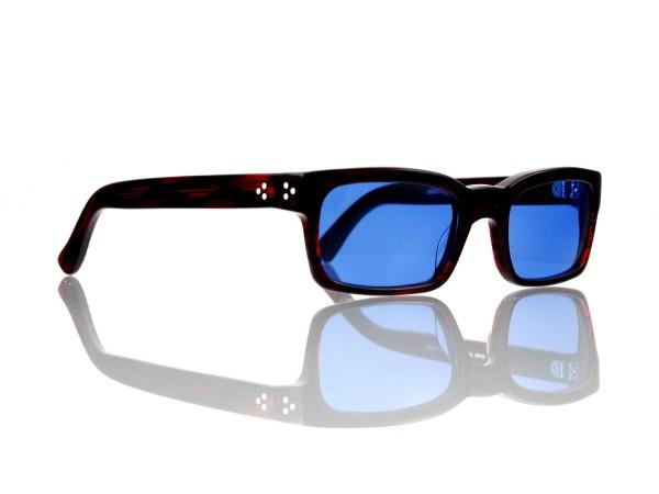 Lesca Lunetier Mod. Bauhaus Sonne Col. 2 Größe 51-19 - 145mm Kunststoff blau 70%