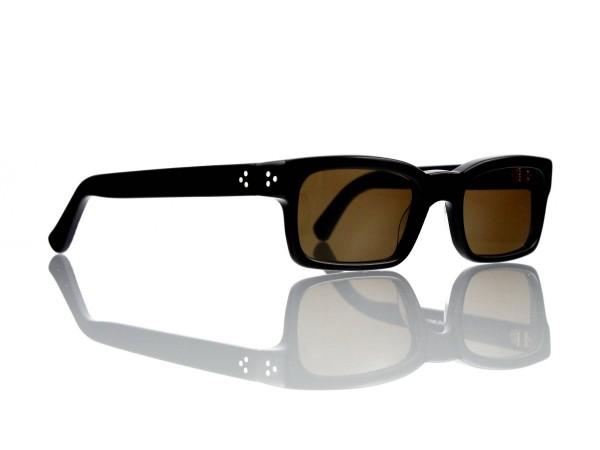 Lesca Lunetier Mod. Bauhaus Sonne Col. 1 Größe 51-19 - 145mm Kunststoff braun 85%