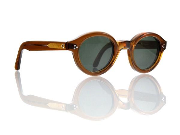 Lesca Lunetier • La Corb's • Sonnenbrille • Col. Cognac • Kunststoff graugrün 85%