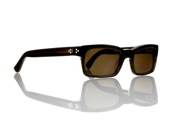 Lesca Lunetier Mod. Bauhaus Sonne Col. 7 Größe 51-19 - 145mm Kunststoff braun 85%