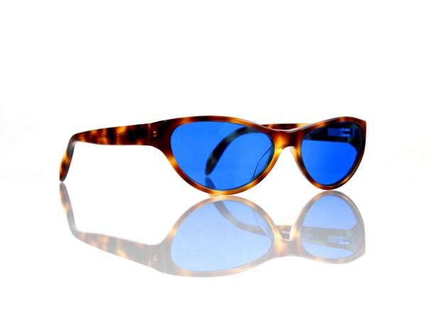 "Lesca Lunetier Mod. P 50 ""Original Vintage"" Col.424 blau ~70% Kunststoff 100% UV Schutz"
