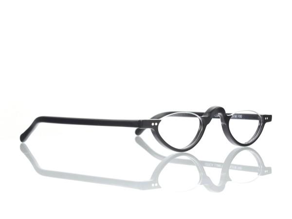 Lesca Lunetier Mod. DL 9 Col. 100 Acetat-Halb-Brillen-Fassung