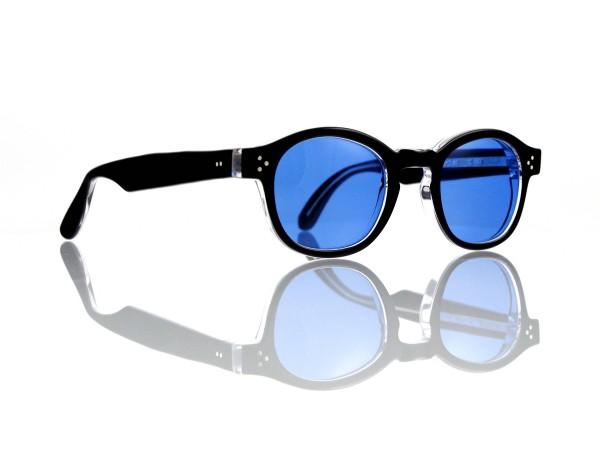 Lesca Lunetier Mod. P.080 Sonne Col. C.160 Größe 44-22 - 145mm Kunststoff blau 70%