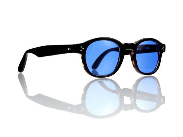 Lesca Lunetier Mod. PO.80-II Sonne Col. C. 190 Größe 48-22 -145mm Kunststoff blau 70%