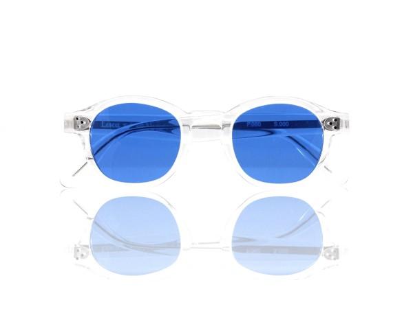 Lesca Lunetier Mod. P.080 Sonne Col. S.000 Größe 44-22 - 145mm Kunststoff blau 70%