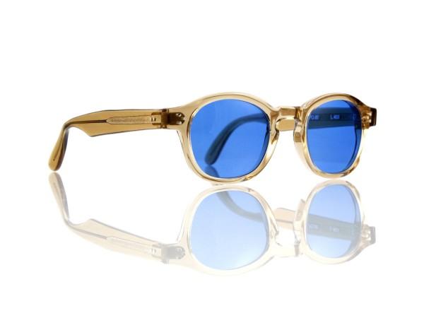 Lesca Lunetier Mod. P.080 Sonne Col. L.403 Größe 44-22 - 145mm Kunststoff blau 70%