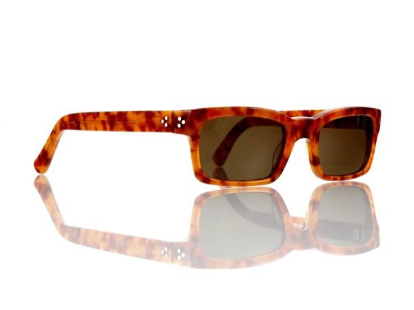 Lesca Lunetier Mod. Bauhaus Sonne Col. 3 Größe 51-19 - 145mm Kunststoff braun 85%