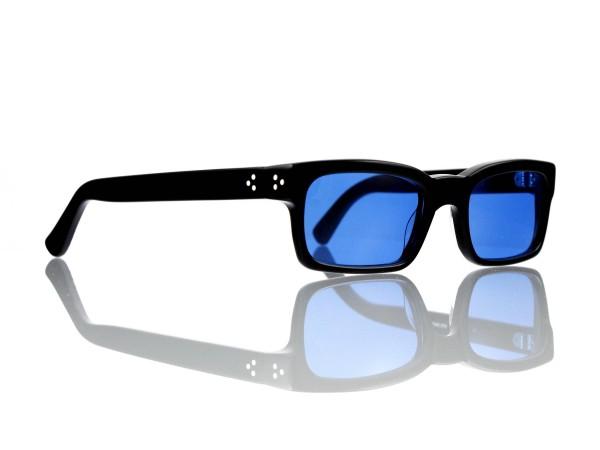 Lesca Lunetier Mod. Bauhaus Sonne Col. 1 Größe 51-19 - 145mm Kunststoff blau 70%