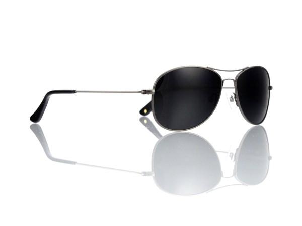 Mod. TT 448 Sonne 56-15 Col. C 8 gun anthrazit matt Gläser grau 85% polarisierend Kunststoff