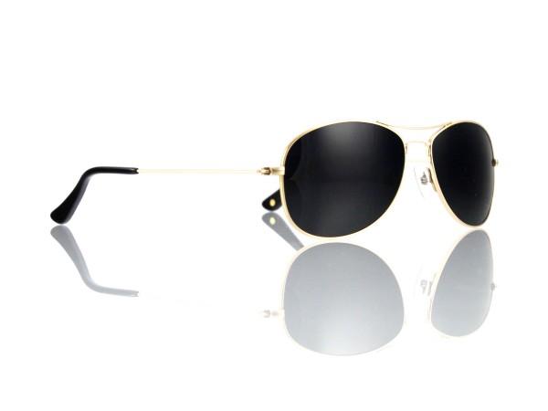 Mod. TT 448 Sonne 56-15 Col. C 1 gold glänzend Gläser grau grün 85% polarisierend Kunststoff