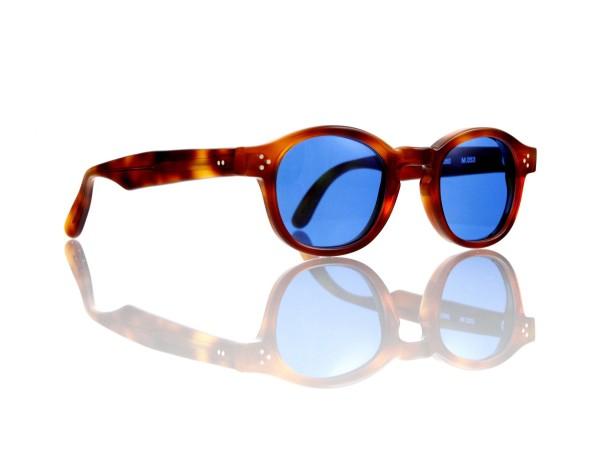 Lesca Lunetier Mod. P.080 Sonne Col. 053 Größe 44-22 - 145mm Kunststoff blau 70%