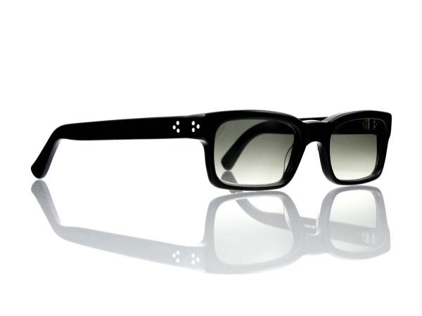 Lesca Lunetier Mod. Bauhaus Sonne Col. 1 Größe 51-19 - 145mm Kunststoff graugrün verlauf