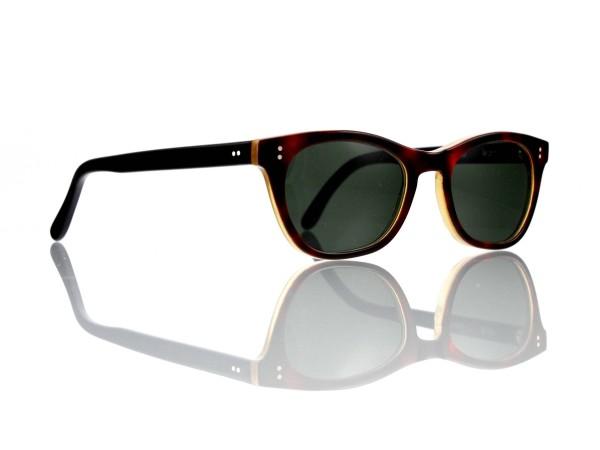 "Lesca Lunetier Mod. Mathieu Sonne Col. M. 201 Größe 50-22 -145mm Kunststoff ""Ray Ban"" G 15 graugrün"