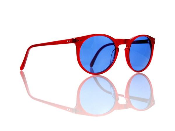 Lesca Lunetier Mod. P 9 Sonne Col. rot Größe 50-22 - 145 mm Kunststoff blau 70%