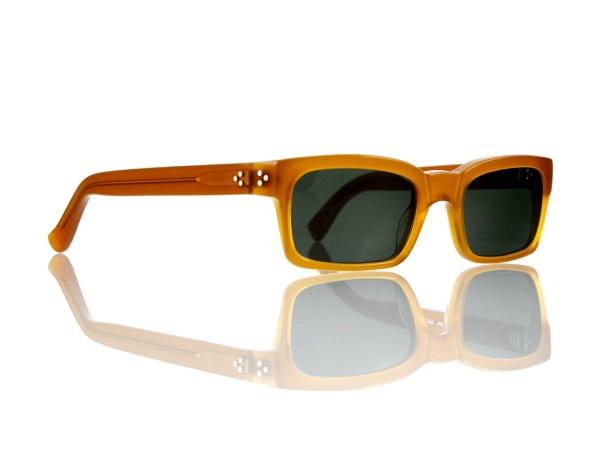 "Lesca Lunetier Mod. Bauhaus Sonne Col. 6 Größe 51-19 - 145mm Kunststoff ""Ray Ban"" G 15 graugrün 85%"