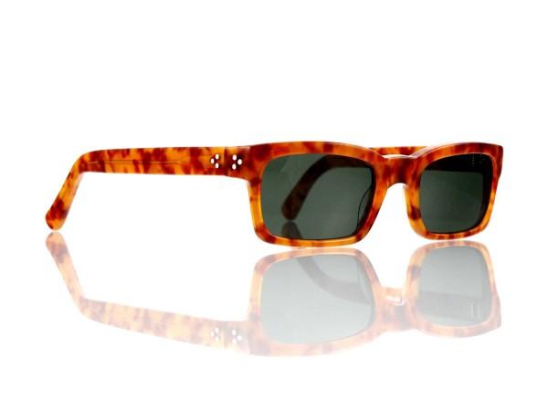 "Lesca Lunetier Mod. Bauhaus Sonne Col. 3 Größe 51-19 - 145 mm Kunststoff ""Ray Ban"" G 15 graugrün 85%"