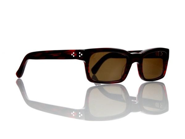 Lesca Lunetier Mod. Bauhaus Sonne Col. 2 Größe 51-19 - 145mm Kunststoff braun 85%