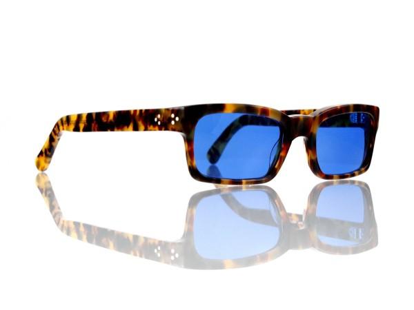 Lesca Lunetier Mod. Bauhaus Sonne Col. 4 Größe 51-19 - 145mm Kunststoff blau 70%