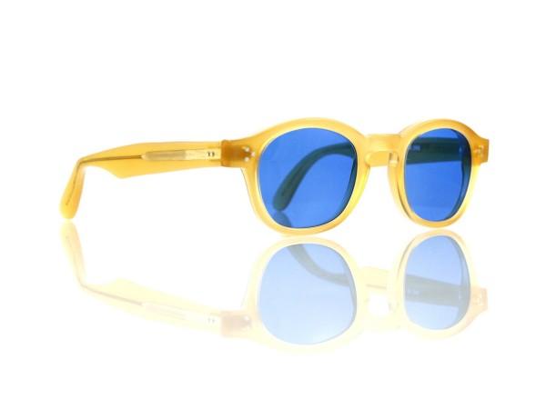 Lesca Lunetier Mod. P.080 Sonne Col. M.286 Größe 44-22 - 145mm Kunststoff blau 70%