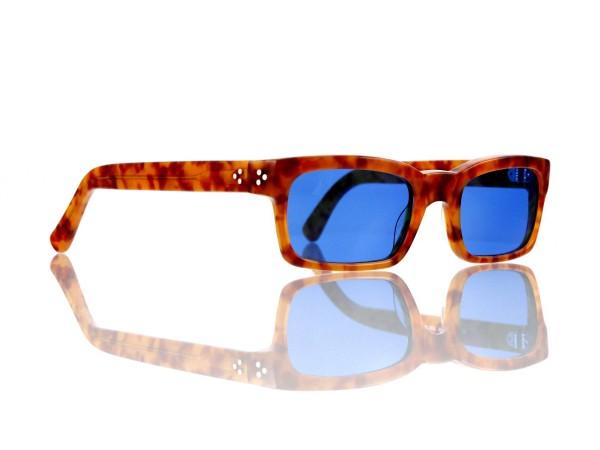 Lesca Lunetier Mod. Bauhaus Sonne Col. 3 Größe 51-19 - 145mm Kunststoff blau 70%
