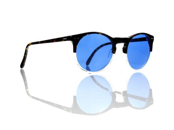 Lesca Lunetier Mod. P 9 Sonne Col. 11 Größe 50-22 - 145 mm Kunststoff blau 70%