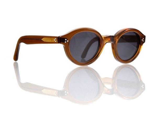 Lesca Lunetier • La Corb's • Sonnenbrille • Col. Cognac • Kunststoff grau 85%