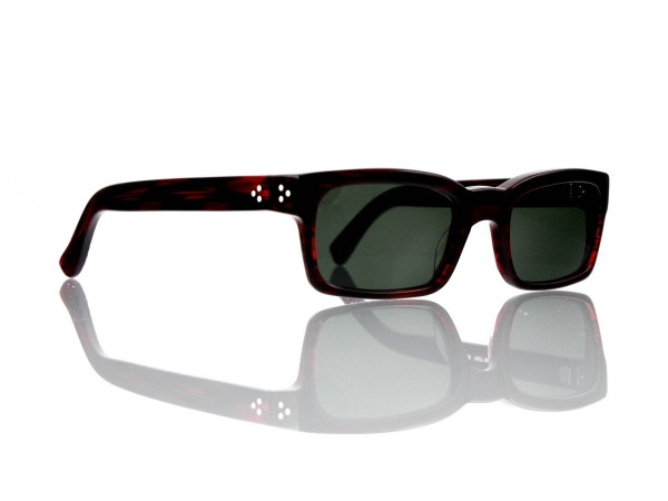 "Lesca Lunetier Mod. Bauhaus Sonne Col. 2 Größe 51-19 - 145 mm Kunststoff ""Ray Ban"" G 15 graugrün 85%"