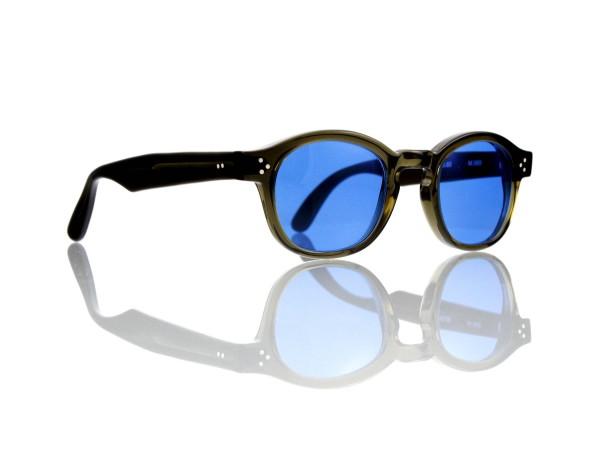Lesca Lunetier Mod. P.080 Sonne Col. M.565 Größe 44-22 - 145mm Kunststoff blau 70%